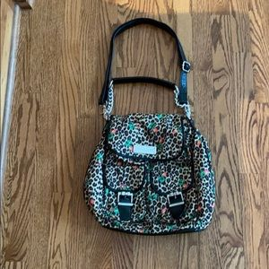 Betsey Johnson leopard handbag/backpack